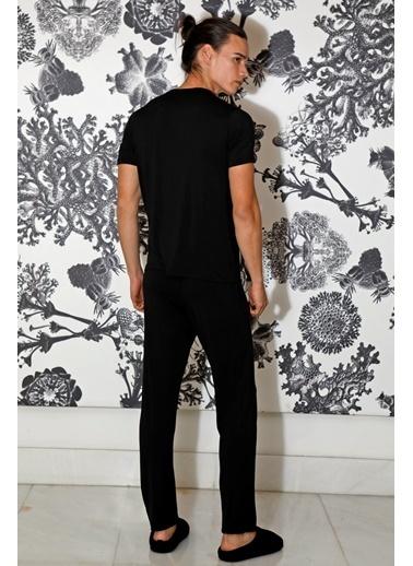 Hays Erkek Kısa Kollu Pijama Takımı Siyah